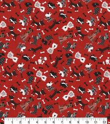 Kids Novelty Cotton Fabric Dogs amp; Puppies By the Half Yard 100% Cotton DIY CRAFT $4.99