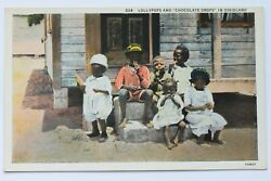 Old postcard LOLLYPOPS AND CHOCOLATE DROPS African Americana $8.99