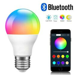 RGBW Bluetooth LED Light Bulb Color Changing E27 Home Smart Lamp APP Control $8.99