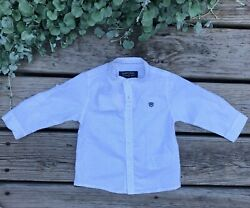 Mayoral Boutique Designer Boys Long Sleeve Button Up Size 3M 6M 9M 12M 24M