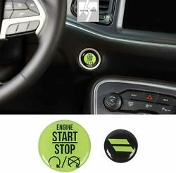 2pc Green Engine Start Stop Button Cover Trim for Dodge Challenger Charger 2010 $10.99