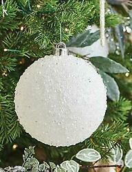 NEW 2020 Raz Imports 4 or 5.5 White Iced Ball Christmas Tree Ornament $3.99