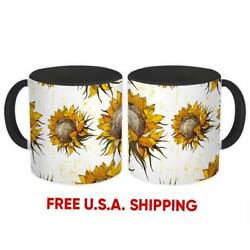 Vintage Sunflower Painting : Pattern Gift Mug Wall Decor Fall Rustic Diy Kitchen $15.90