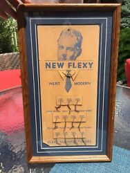 Vintage New Flexy Neat Modern For Mens' Dress Collar Trade Store Display Framed $47.50