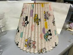 VTG Paper BABY Mickey amp; Minnie Goofy Mouse Lamp Shade Accordian Clip 8.5 T 11quot;W $18.00