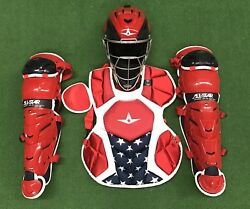 All Star System 7 Axis Youth 10-12 USA Catchers Gear Set - Red White Blue $349.95
