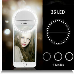 Portable Selfie LED Light Phone Ring Fill Camera Rechargable For iPhone Samsung $6.65