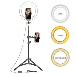 Led Ring Light Phone Holder Studio Portable Photo Selfie Makeup Tripod Stand $25.88