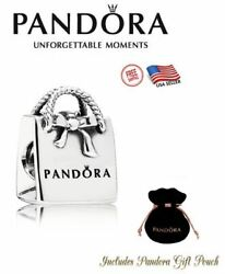 New Authentic S925 Sterling Silver Pandora Bracelet Charm Shopping Bag 791184 $21.99