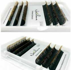 Eyelash Extensions Individual Faux Mink For Salon 6 Rows Ombre Blue Purple Green $4.49