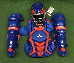 All Star System 7 Axis Youth 10-12 Catchers Gear Set - Royal Blue Red $349.95