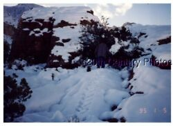 FOUND COLOR PHOTO F_5148 MAN FROM BEHIND IN THE SNOW $6.98