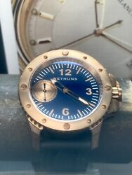 Nethuns Number 5 No. 5 Blue Dial Bronze Limited Edition Swiss Automatic Sold Out $1,495.00