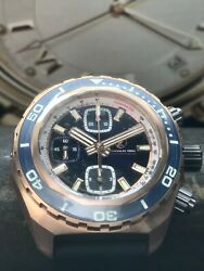 Brand New Zelos Bronze Hammerhead Chronograph Swiss Valjoux 7750 44mm 1000m Dive $1,395.00