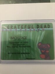 Grateful dead backstage pass September 14 1993 the spectrum Philadelphia