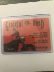 Grateful Dead Backstage Pass March 28 1993 Knickerbocker Arena New York