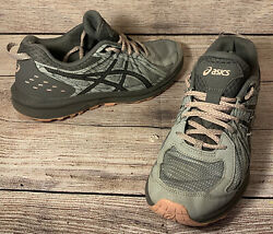 ASICS Womens Frequent Trail Mid Grey Carbon Hiking Shoes Size 9.5 $24.88