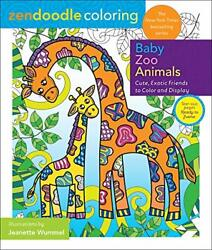 Zendoodle Coloring Baby Zoo Animals Cute Exotic Friends to Color a $7.41