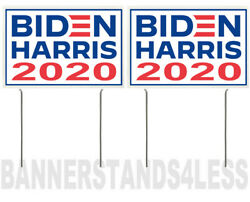 8x12 Inch BIDEN HARRIS 2020 Yard Sign with Stake wb - 2 PACK $13.99