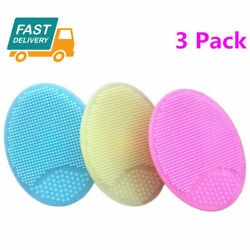 Silicone Face Brush Cleansing Scrub Skin Blackhead Pore Cleaner Set  3 Pack US $5.69