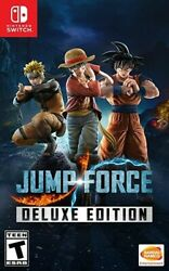 JUMP FORCE Deluxe Edition for Nintendo Switch New Video Game $49.99