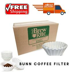 BrewRite Bunn Filter Coffee Maker Filters 12 Cup Commercial White 1000 ct.