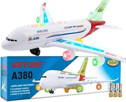 New Airplane Toys for Kids Bump and Go Action Airbus A380 Model Airplane Toys $23.99