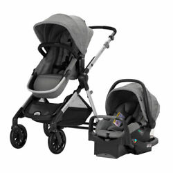 Evenflo Pivot Xpand Modular Travel System with Infant Car Seat Gray Open Box $287.99