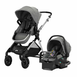 Evenflo Pivot Xpand Modular Travel System with Infant Car Seat Gray Open Box $229.99