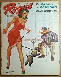Rare Vintage Pin Up Magazine quot;Rogue for Menquot; May 1957 $30.00