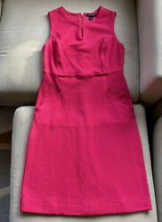 Lands End Pink Sheath Dress 6 4 Small with Pockets $12.00