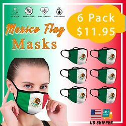 SALE 6 PCS Mexico Flag Reusable Washable Face Mask Protection Cover Mouth $11.95