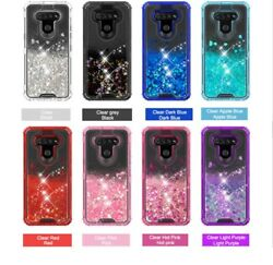 For LG K51 Phone Case Premium Glitter Quick Sand CoverTempered Glass Protector $11.69