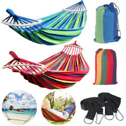 Canvas Outdoor Hammock Cotton Swing Camping Beach Patio Garden Hanging Chair Bed $20.99