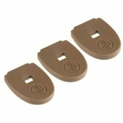 SIG SAUER P320 MAGAZINE BOTTOM FLOOR BASE PLATE COYOTE BROWN 3 PACK $19.99