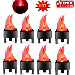 1 10Pack LED Flame Fire Effect Light Burning Flickering Lamp Party Bar Decor $14.24