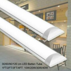 30 60 90 120cm LED Shop Light Garage Fixture Ceiling Lamp LED Batten Tube Light $17.02