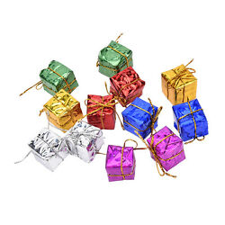 12X Colorful XMAS Small Gift Boxes Christmas Tree Hanging Decorations OrnamYJCA