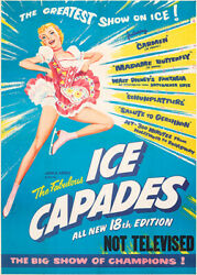 The Ice Capades 1957 Show Poster $9.99