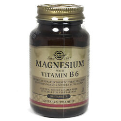 Solgar Magnesium with Vitamin B 6 Tablets 100 Count $12.24