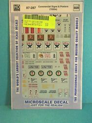 HO Scale Commercial Signs amp; Posters 1930s 87 287 Selection of Decals