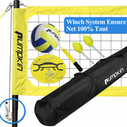 Portable Volleyball Net Set with Adjustable Poles Carry Bag Outdoor Beach Sports $131.94