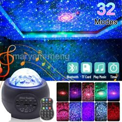 LED Galaxy Starry Night Light Projector Ocean Sky Star Party Speaker Dance Lamp $32.89
