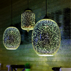 Modern Hanging 3D Colored Glass Ceiling Lights Pendant Lamp Chandeliers xmas $51.50