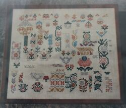 Garden Spot Reproduction Sampler Samplers and Such $12.00