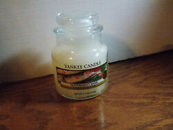 YANKEE CANDLE PEPPERMINT BARK SMALL JAR CANDLE 3.7 OZ $12.99