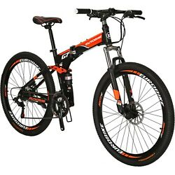 G7 27.5quot; Folding Mountain Bike 21 Speed Full Suspension Foldable frame Bicycle $289.00