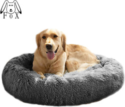 MFOX Calming Dog Bed XL XXL for Medium and Large Dogs Comfortable Pet Bed Faux $53.43