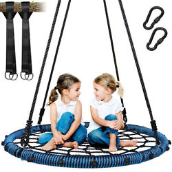 Outdooramp;Garden Tree Swing Spider Web Swing Nest Swing Round Hanging Seat 700Lbs $78.88