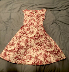 Luly K New York City Juniors Teen Dresses Medium Red And White Floral Size M